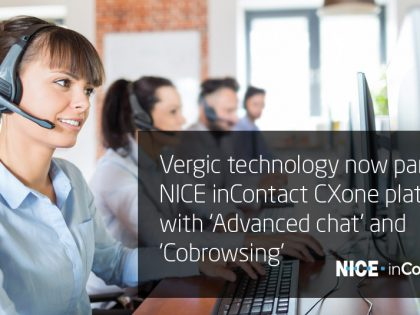 Vergic technology now part of NICE inContact CXone platform