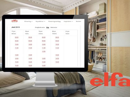 Making experts available in scheduled online meetings helps Elfa meet customers needs