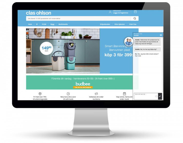 Clas Ohlson use Vergic Engage for great customer experience