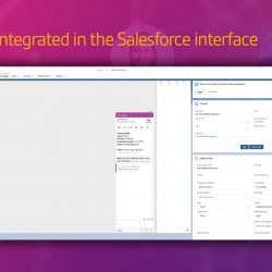 use Vergic Engage in the same interface as Salesforce